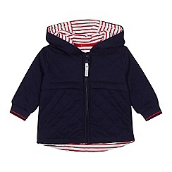 J by Jasper Conran - Babies' navy quilted jacket
