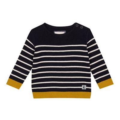 J By Jasper Conran Baby Boys Navy Blue Striped Jumper