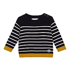 J by Jasper Conran - Baby girls' navy blue striped jumper