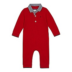 J by Jasper Conran - Baby boys' red gingham trim romper suit