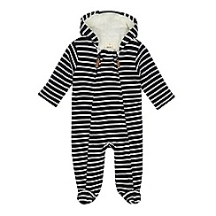 J by Jasper Conran - Babies' navy striped snugglesuit