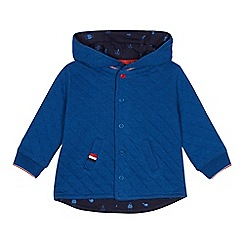 J by Jasper Conran - Babies' blue quilted jacket
