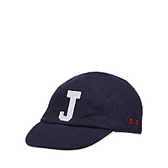 J by Jasper Conran - Baby boys  navy quilted embroidered logo cap 061a59dbe64b
