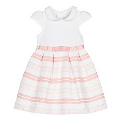 J by Jasper Conran - Baby girls' pink textured stripe dress
