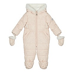 J by Jasper Conran - 'Baby girls' pale pink quilted snowsuit