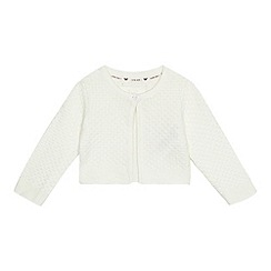 J by Jasper Conran - 'Baby girls' cream textured cardigan