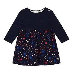 J by Jasper Conran - Baby girls' navy textured dress