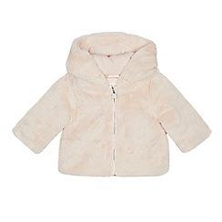 76f3cd17ed48 J by Jasper Conran - Baby Girls  Pink Faux Fur Coat