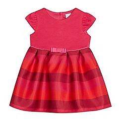 J by Jasper Conran - Baby girls' pink stripe party dress