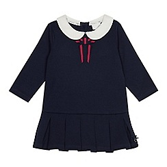 J by Jasper Conran - Baby girls' navy colour block jersey dress