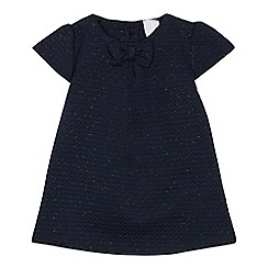 J by Jasper Conran - Baby girls' navy quilted dress