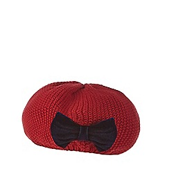 J by Jasper Conran - 'Baby girls' red knitted beret