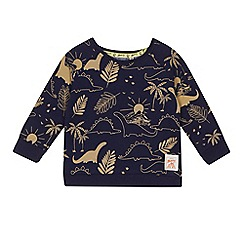 Mantaray - 'Baby boys' navy dinosaur print sweat top