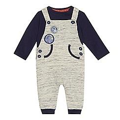 Mantaray - Baby boys' badge jersey top and dungarees set