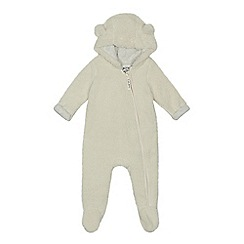 Mantaray - Baby cream borg snuggle suit