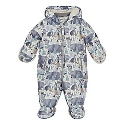 Mantaray - Babies grey woodland print snowsuit