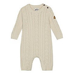 Mantaray - Baby boys' cream cable knit romper suit