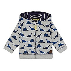 Mantaray - Baby boys' grey dinosaur print sweat jacket