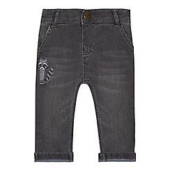 Mantaray - Baby boys' grey racoon applique jeans