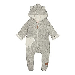 Mantaray - Babies' grey polar bear snugglesuit