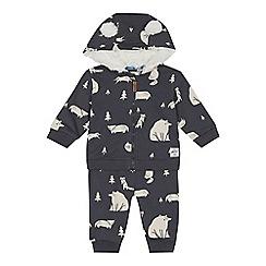 Mantaray - Babies' grey animal print hoodie and jogging bottoms set