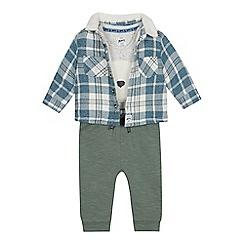 Mantaray - Babies' multicoloured bear bodysuit, jacket and bottoms set