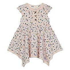 Mantaray - 'Baby girls' pink bird print dress