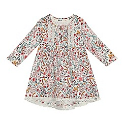 Mantaray - 'Baby girls' multi-coloured floral print jersey dress