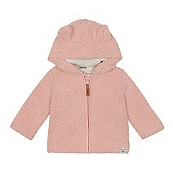 Mantaray - Baby girls' ear applique fleece jacket