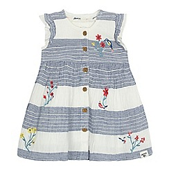 Mantaray - 'Baby girls' off white floral embroidered dress