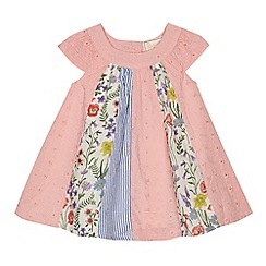 Mantaray - 'Baby girls' multi-coloured floral print dress