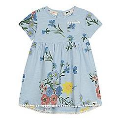 Mantaray - 'Baby girls' light blue floral print jersey dress