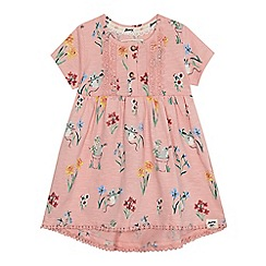 Mantaray - 'Baby girls' pink mouse floral print dress