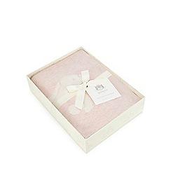 Jellycat - Babies' pink bunny print blanket