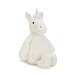 Jellycat - Off White 'Bashful Unicorn' Soft Toy