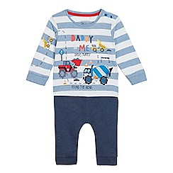 bluezoo - Baby Boys' Navy 'Daddy & Me' Truck Print Top and Jogging Bottoms Set