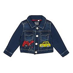 bluezoo - Babies' navy truck applique denim jacket