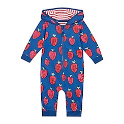 bluezoo - Babies' Navy Strawberry Print Romper Suit