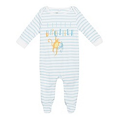 bluezoo - Babies' blue 'little brother' sleepsuit