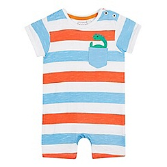 bluezoo - Babies' Multicoloured Striped Romper Suit