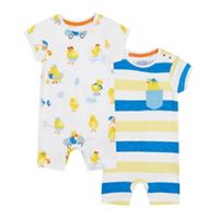 7446c3219157 J by Jasper Conran Designer pack of two babies white cotton star ...