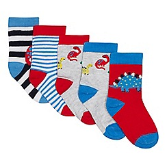 bluezoo - 5 Pack Babies' Multicoloured Striped Socks