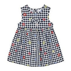 bluezoo - Baby Girls' Navy Gingham Check Dress