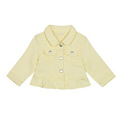 bluezoo - Baby Girls' Yellow Frilled Trim Denim Jacket
