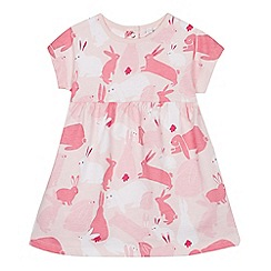 bluezoo - Baby Girls' Pink Bunny Print Dress