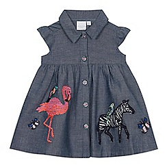 bluezoo - Girls' Blue Embroidered Denim Dress