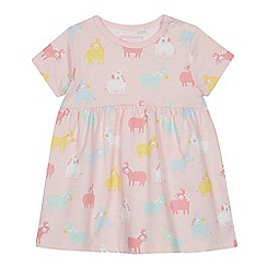bluezoo - Baby Girls' Pink Donkey Print Dress