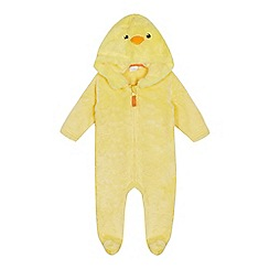 bluezoo - Kids' Yellow Chick Fleece Onesie