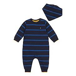 J by Jasper Conran - Babies' Navy Striped Onesie and Bib