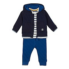 J by Jasper Conran - Baby Boys' Navy Jacket, T-shirt and Trousers Set